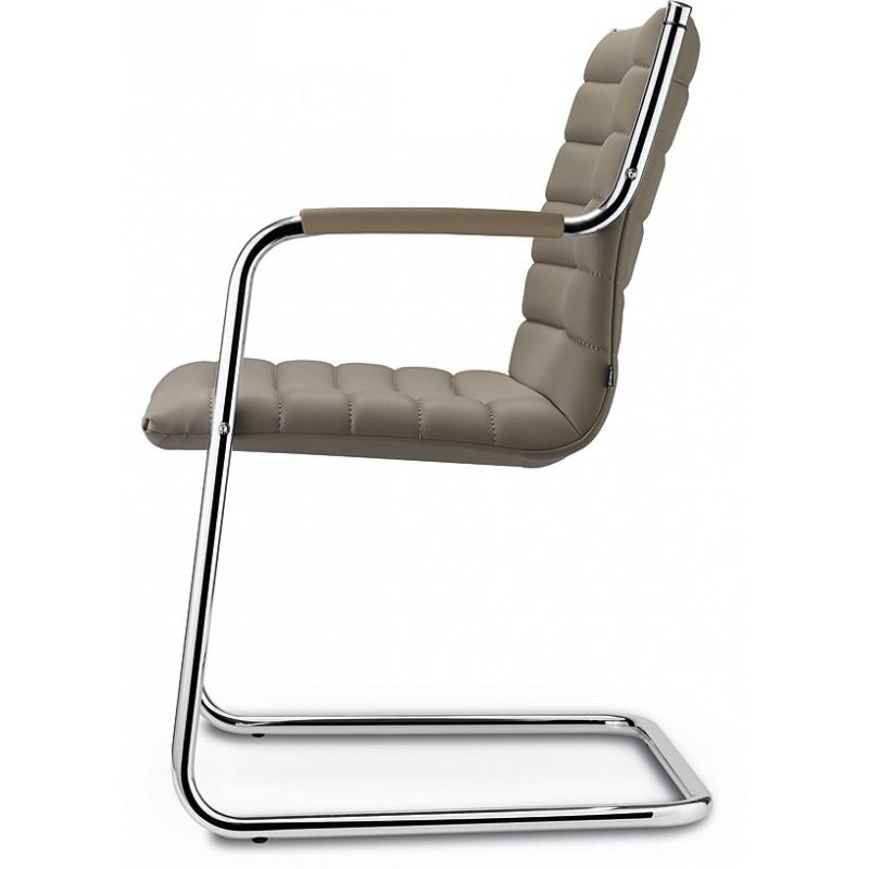 si ge visiteur luge en cuir pleine fleur noir ou taupe. Black Bedroom Furniture Sets. Home Design Ideas