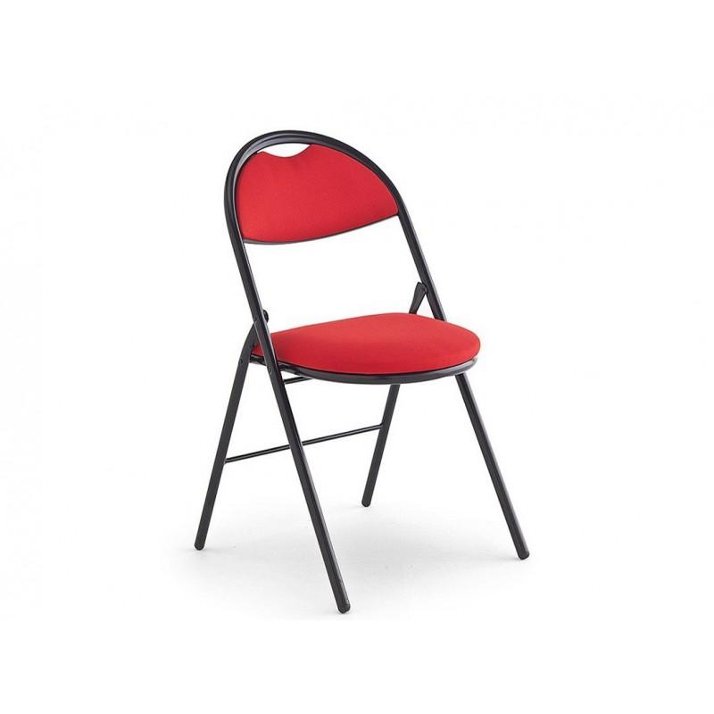 Chaise pliante tissu rouge grise bleue assise - Chaise rouge et bleue ...