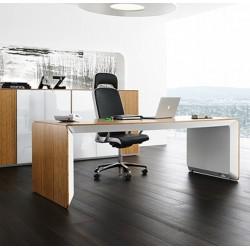 NESSO - Bureau avec placage bois