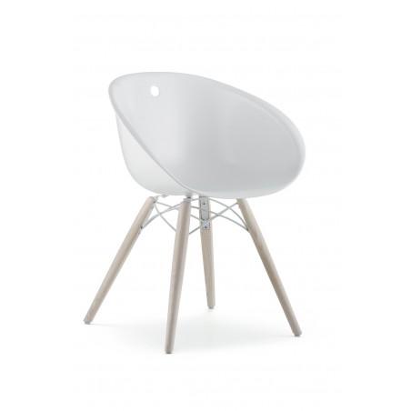 PONSE - Chaise moderne piétement bois