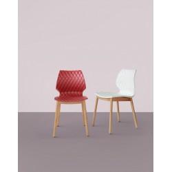 MERNEL - Chaise piétement bois