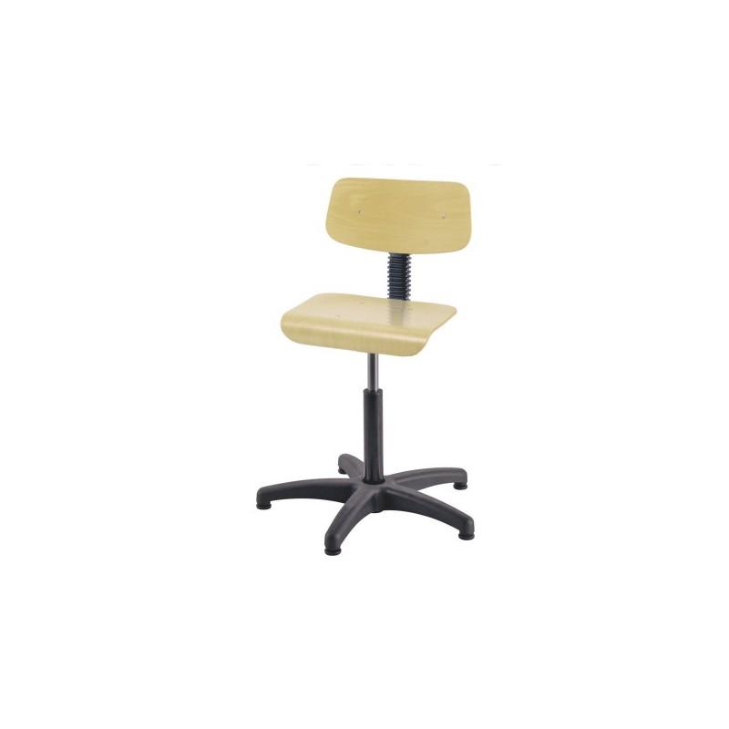 Chaise de bureau sans roulettes r glable et pivotante for Chaise de bureau sans roulettes