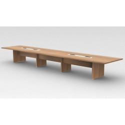 LEUZE - Table de réunion en bois mélaminé