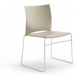 CASSON - Chaise polypropylène blanche, rouge, noire et autres coloris