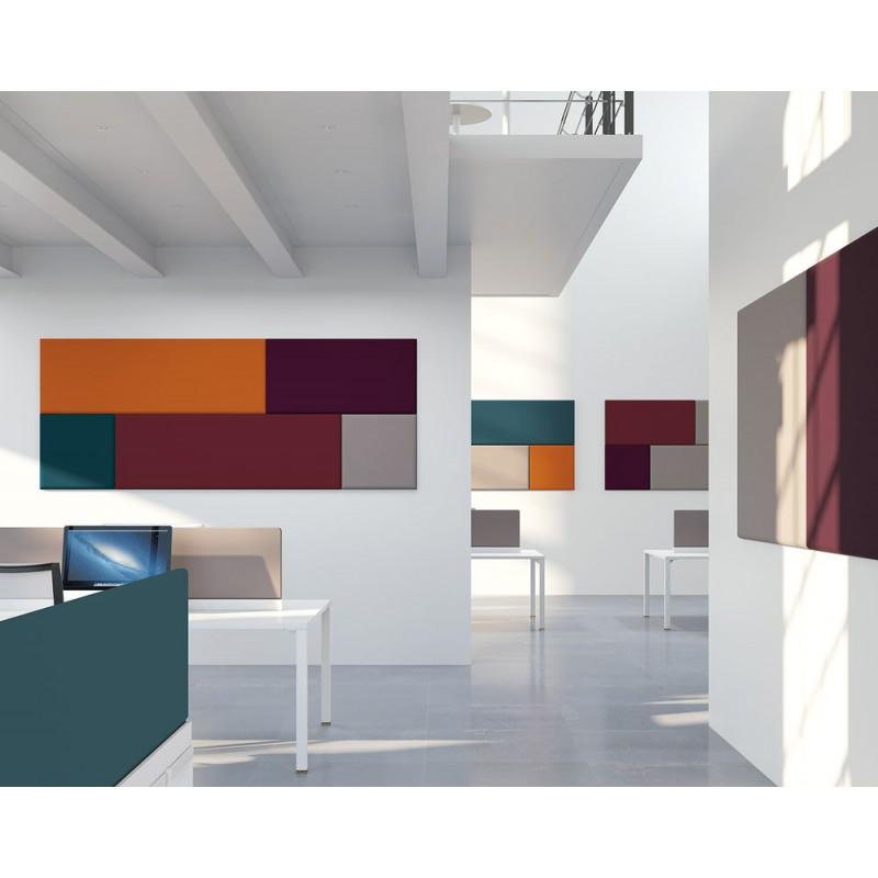 panneau acoustique mural isolant 100x100cm carr 24 finitions. Black Bedroom Furniture Sets. Home Design Ideas