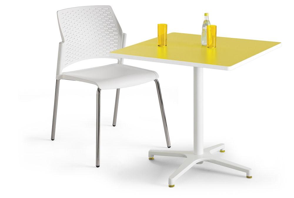 Table 80x80 Metz Carrée cm BlancSableArgileArgentAluminium 1lJcTF3K