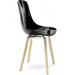 CLICHY - Chaise pieds en bois design