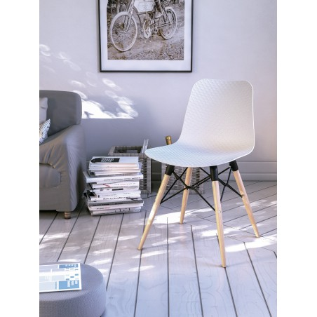 MONROE - Chaise coque polypropylène