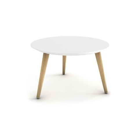 SURBA - Table basse ronde blanche design