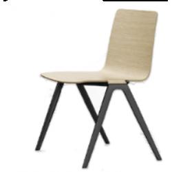 BRABANT - Chaise polyvalente, coque bois
