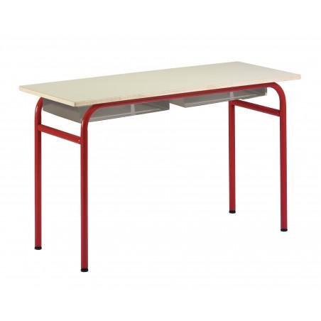 SIRAN - Table scolaire avec casier lot x2