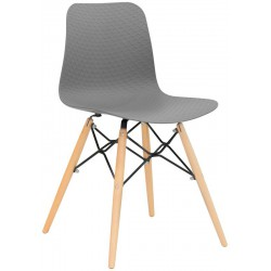 ROUJAN - Chaise pieds en bois design