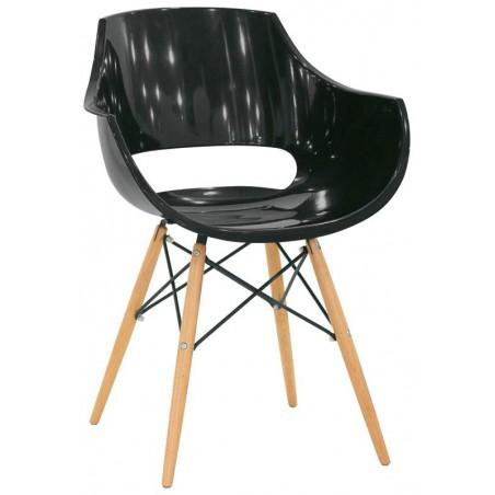 ROZOY - Chaise design pied bois
