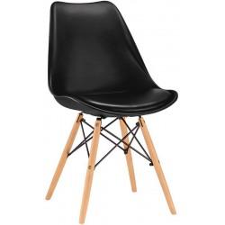 ROUSSAC - Chaise design pied bois