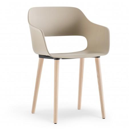 PANTON - Chaise pied bois