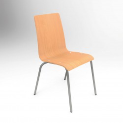 LERRY - Chaise coque en bois