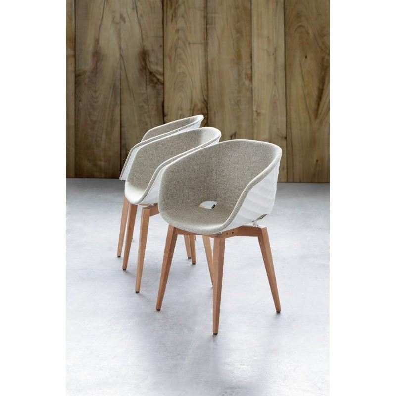 MANOIS KA - Fauteuil tapissé moderne