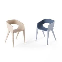 GUEMAR - Chaise coque bois design