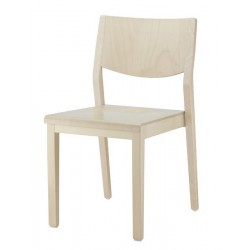 BRIARE - Chaise empilable bois