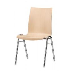 BULTA - Chaise empilable en bois