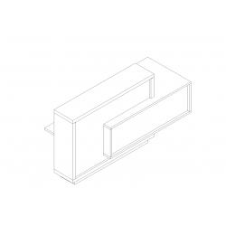MACLAS - Banque d'accueil blanche ou wengé