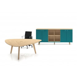 BOLOZON - Bureau table triangulaire