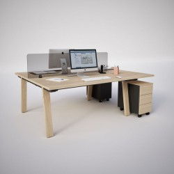 BARBA - Bureau droit en bois