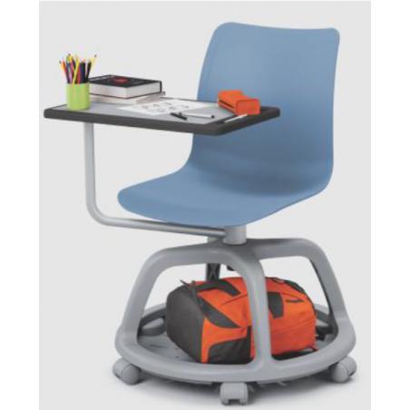 LYAUD  - Chaise avec tablette écritoire