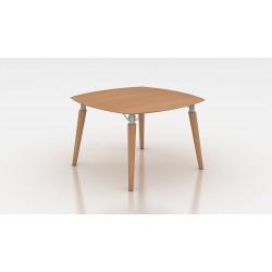 MATARA Table de réunion avec plateau et piétement bois
