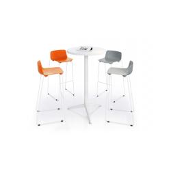 Table Outdoor haute  ronde pour utilisation en extérieur