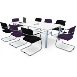 Table de réunion MEETING  avec trappes d'accès.