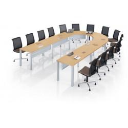 MODULO Table de réunion pour 14 personnes