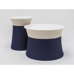 MAGALIA Table Basse tissu Bi-colore.