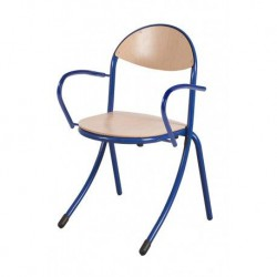 SABRES Chaise scolaire avec accoudoirs.
