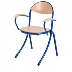 SABRES Chaise scolaire avec accoudoirs en hêtre