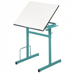 SIXT Table à dessin réglable en hauteur et plateau inclinable.