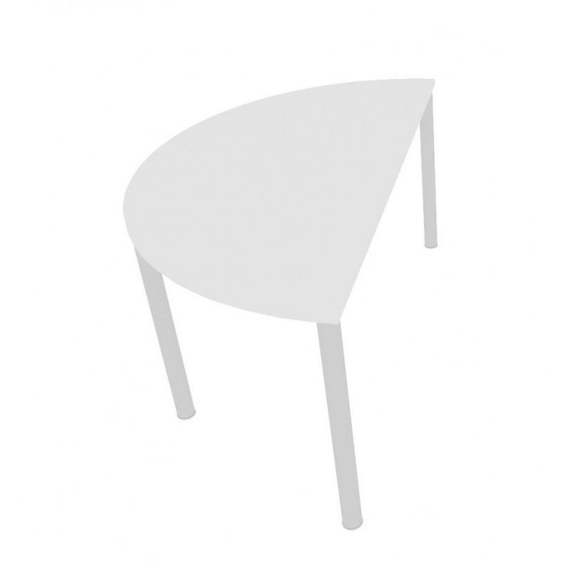 MORALZA Table en demi-rond