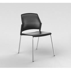 MOSTO  Chaise visiteur 4 pieds chromés