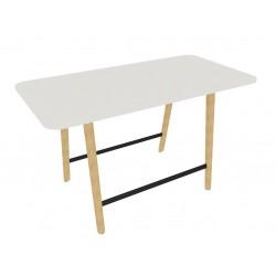 NOHIC Table Haute, 180 x 90 cm avec repose-pieds.