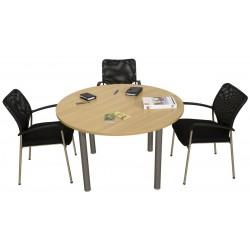 VADENCOURT Délai court table de réunion ronde diamètre 120 cm.
