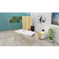 Ensemble pour Bureau : un fauteuil, une armoire, un caisson et un bureau