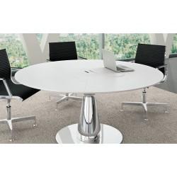BABANO Table de réunion ronde pour 6 personnes.