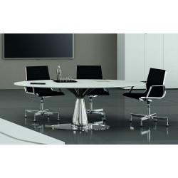 BABANO Table de réunion ovale pour 6 personnes.