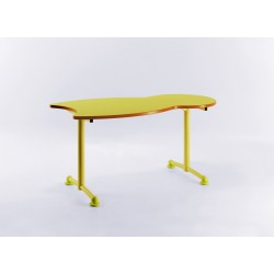 LABEILLE Table scolaire en forme d'abeille  L.1187 X P.600 mm