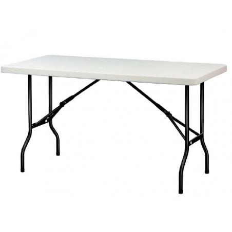 LACHOME Table pliante L.1220 X P.760 mm. Utilisation intérieure et extérieure. Plateau en polyéthylène.