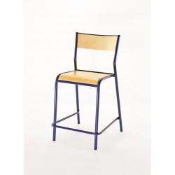 LACAUNE Lot de 10 chaises scolaires réhaussée