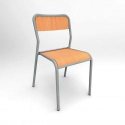LACAUNE Lot de 10 chaises scolaires