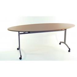 LEPINE - Table rabattable à roulettes Elliptique