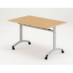 LEPINE - Table rabattable à roulettes rectangulaire P.70 cm.