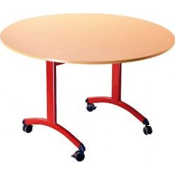 LEPINE - Table rabattable à roulettes ronde diamètre 1200 mm